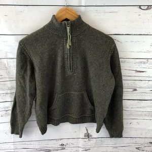 Columbia 1/4 Zip Knit Sweater Cotton Wool Blend L
